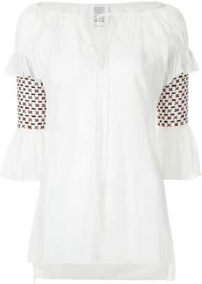 Rosie Assoulin cross stich sleeve blouse