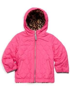 London Fog Girl's Reversible Hooded Jacket