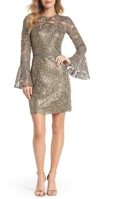 Tadashi Shoji Embroidered Sequin Sheath Dress
