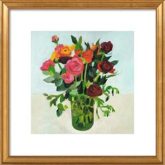 Flowers In A Vase Framed Giclee Print, Artfully Walls