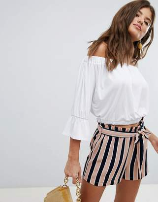 Missguided Bardot Crop Top