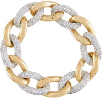 Diana M. Jewels 18k Two-Tone Diamond Link Bracelet