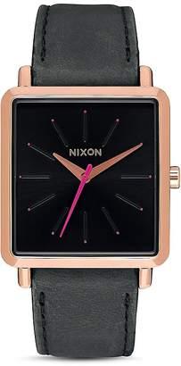 Nixon K Squared Leather Watch, 30mm x 32mm