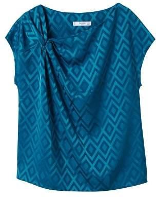 MANGO Geometric-print blouse