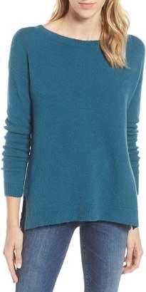 Caslon Back Zip High/Low Sweater