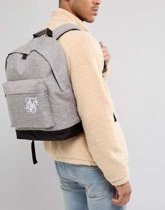 SikSilk backpack in gray marl