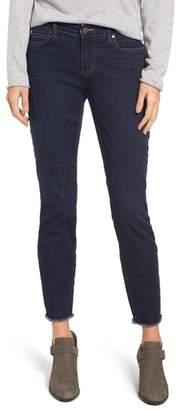 Eileen Fisher Raw Edge Slim Ankle Jeans