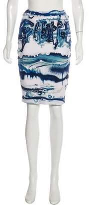 Jean Paul Gaultier Soleil Printed Knee-Length Skirt