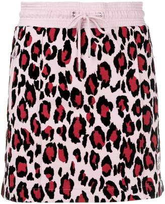 Kenzo leopard-print track skirt