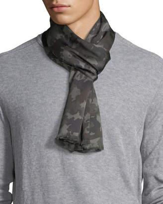 Tom Ford Tubular Camouflage Silk Scarf
