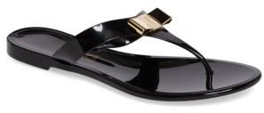 Women's Salvatore Ferragamo Jelly Flat Bow Sandal