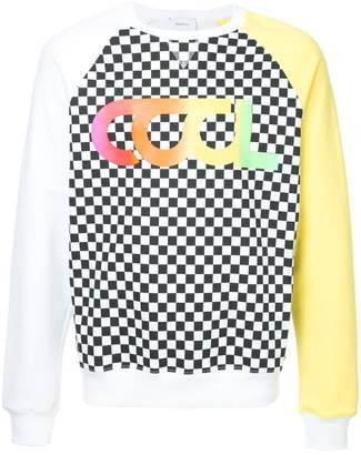 Ports V Cool Summer colour block and checkered sweatshirt