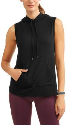 Athletic Works Women's Active French Terry Vest With Hoodie