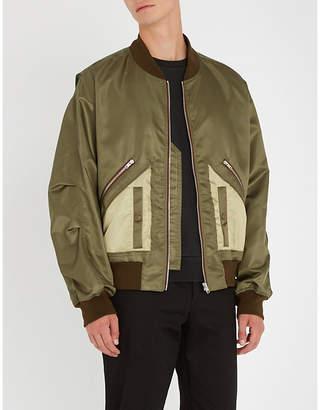 Maison Margiela Deconstructed satin bomber jacket