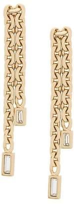 Karl Lagerfeld liquid chain earrings