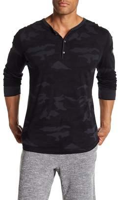 Velvet by Graham & Spencer Long Sleeve Camo Print Knit Shirt