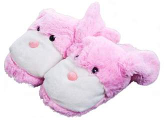 Silly Slippeez Kids Cuddlee Slippers, Bunny, Ages 6-12