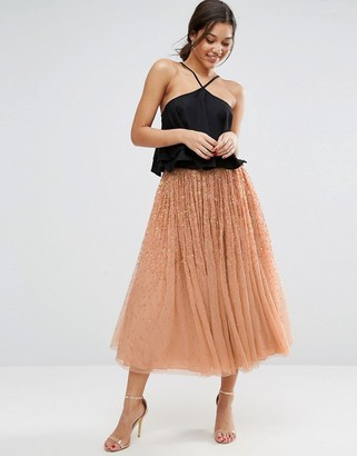 ASOS Tulle Prom Skirt with Embellishment $83 thestylecure.com