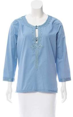 Calypso Long Sleeve Kaftan Top