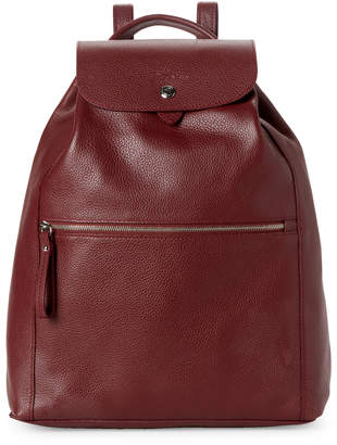 Longchamp Red Le Foulonne Leather Backpack