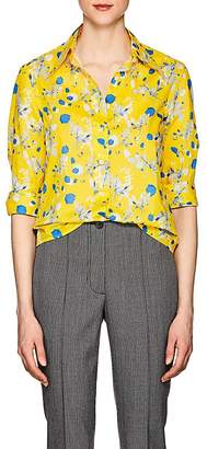 R13 Women's Floral-Print Cotton Poplin Blouse