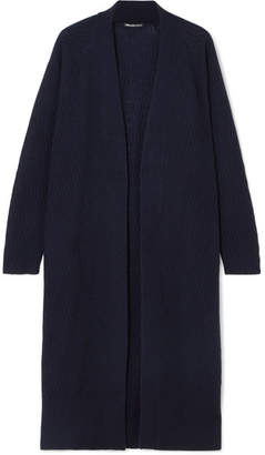 James Perse Cable-knit Cashmere Cardigan - Navy