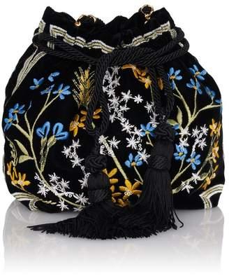 Etro Chatelaine Ricamo Embroidered Velvet Clutch Bag