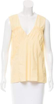 Marni Sleeveless Ruched Top