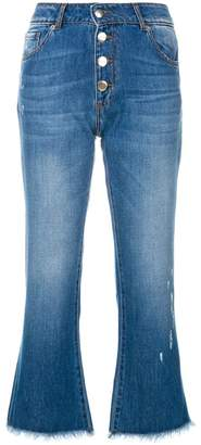 Each X Other button cropped jeans