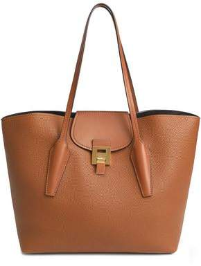 Michael Kors Bancroft Smooth And Pebbled-Leather Tote