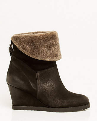 Le Château Leather Wedge Ankle Boot