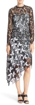 Women's Self-Portrait 'Vine' Asymmetrical Lace Midi Dress $615 thestylecure.com