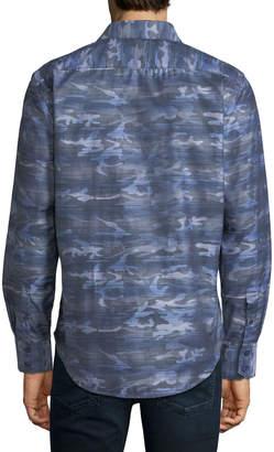Robert Graham Tailored-Fit Camouflage Woven Sport Shirt