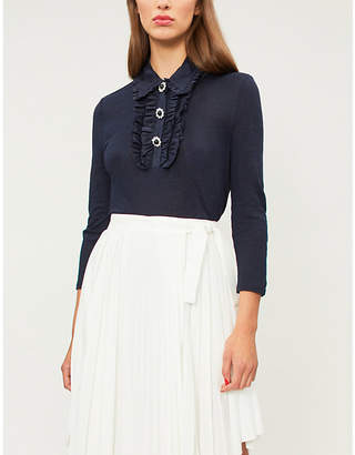 Claudie Pierlot Tina ruffled linen top