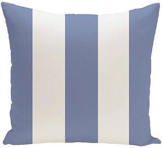 One Kings Lane Awning-Stripe Outdoor Pillow - Blue