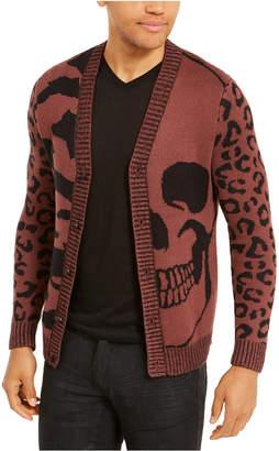 INC International Concepts Inc Men Skull & Animal Print Cardigan