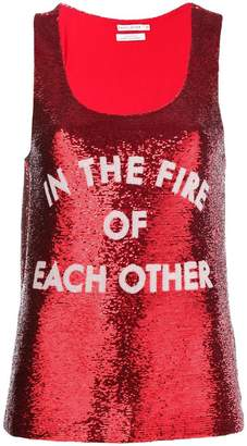 Each X Other sequinned tank top