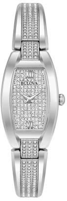 Bulova Women's Crystal Stainless Steel Bangle Watch - 96L235