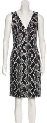 Michael Kors Snakeskin Print Sheath Dress