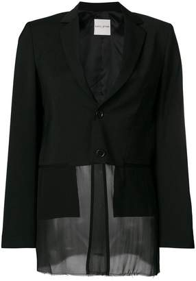 Each X Other sheer hem fitted blazer
