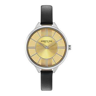 Kenneth Cole New York Women's Transparency Stainless Steel Japanese-Quartz Leather Strap