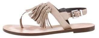 Rebecca Minkoff Tassel Trim Thong Sandals