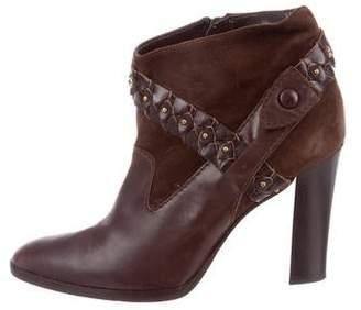 Diane von Furstenberg Leather Ankle Boots
