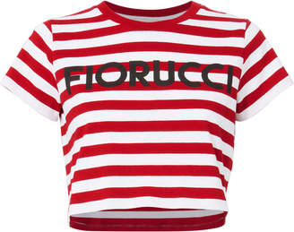 Fiorucci Striped Crop T-Shirt