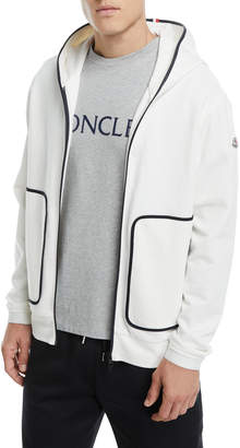 Moncler Zip-Front Knit Hoodie