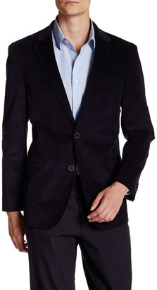 Tommy Hilfiger Cord Two-Button Suede Patch Sport Coat $295 thestylecure.com