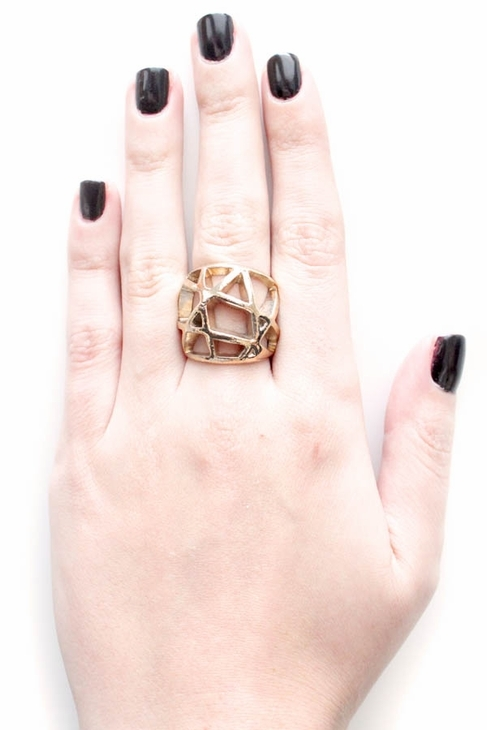 Low Luv by Erin Wasson Domed Cage Ring in Yellow Gold