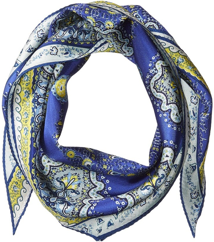 Echo Design - Paisley Lace Silk Diamond Shaped Scarf Scarves