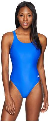 Speedo Solid Lycra Women's Swimsuits One Piece