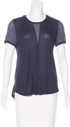 Rebecca Taylor Silk-Accented Jersey Top